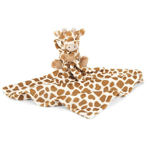 "Jellycat Bashful Giraffe Soother 13""- - Anglo Dutch Pools & Toys"