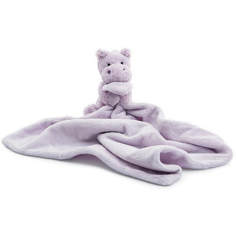Baby And Infant Plush Items - Jellycat Bashful Lilac Hippo Soother 13""