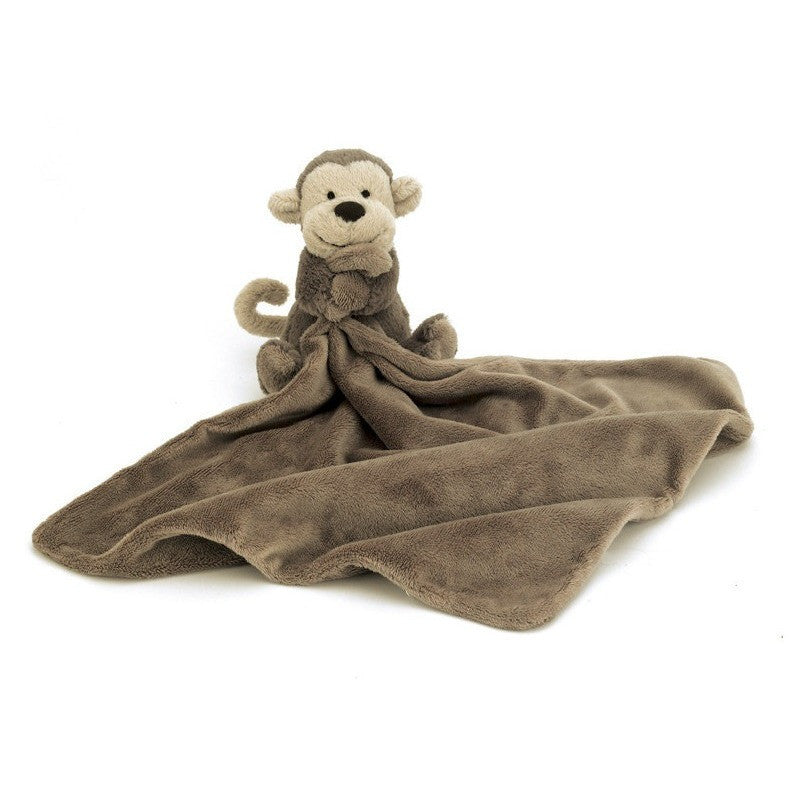 "Jellycat Bashful Monkey Soother 13"" - Baby and Infant Plush Items - Anglo Dutch Pools and Toys"
