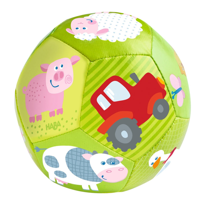 Baby And Infant Toys - HABA Baby Ball On The Farm 4.5""