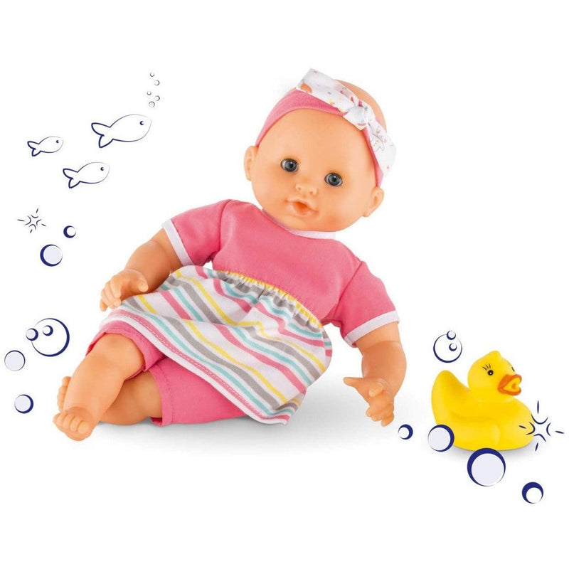 "Corolle Mon Premier Bebe Bath Girl Baby Doll 12""- - Anglo Dutch Pools & Toys  - 1"