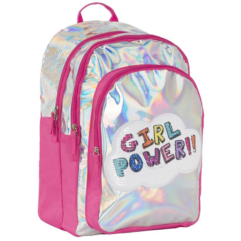 Backpacks And Lunch Boxes - 3C4G Girl Power Hologram Backpack
