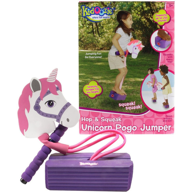 Kidoozie Hop & Squeak Unicorn Pogo Jumper- - Anglo Dutch Pools & Toys  - 1