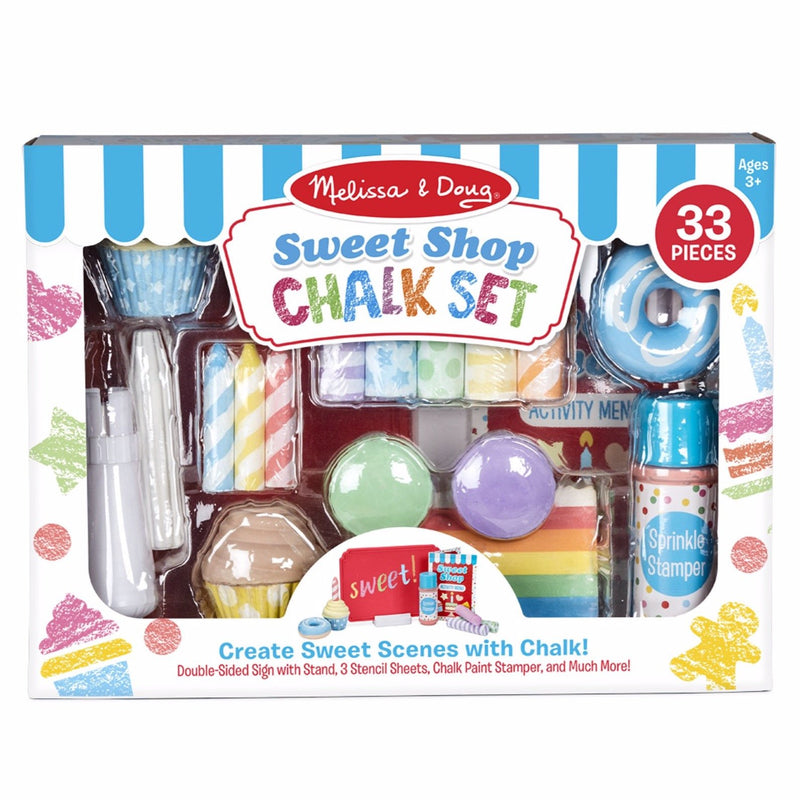 Backyard Fun And Games - Melissa & Doug Sweet Shop Chalk Play Set