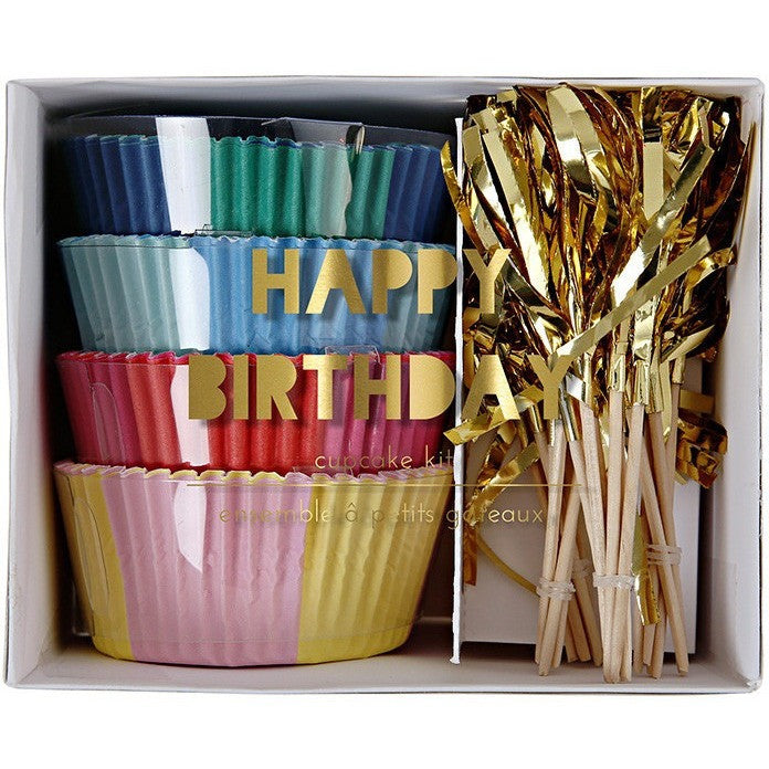 Meri Meri Happy Birthday Cupcake Kit- - Anglo Dutch Pools & Toys  - 1