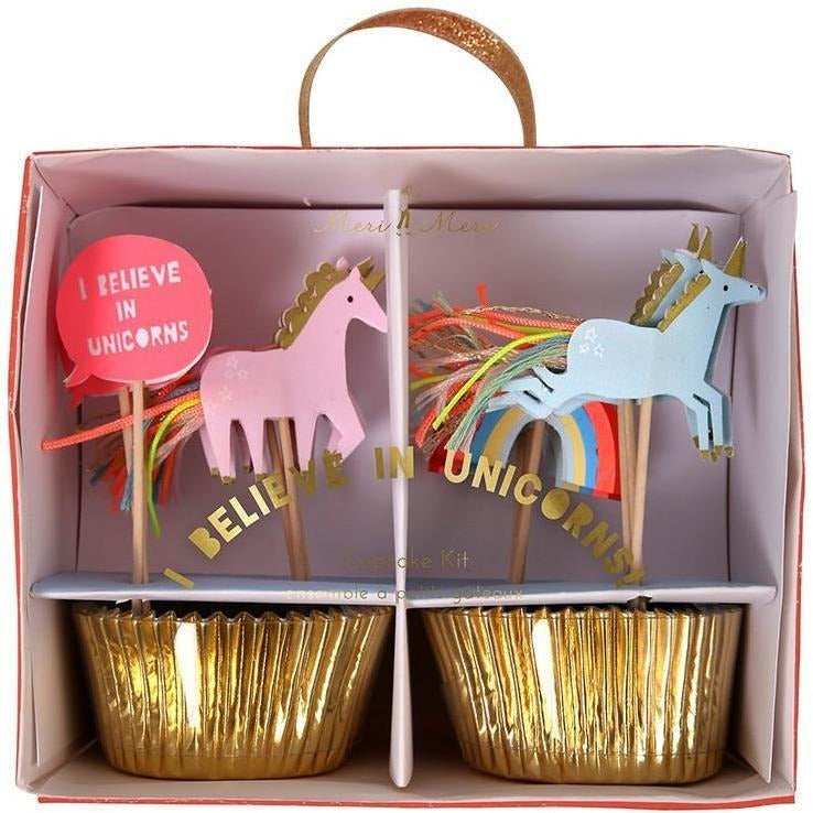 Baking Products - Meri Meri I Believe In Unicorns Cupcake Kit