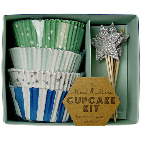 Meri Meri Toot Sweet Blue Cupcake Kit- - Anglo Dutch Pools & Toys  - 1