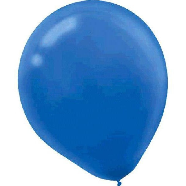 Solid Latex Balloons- Bright Royal Blue 12""