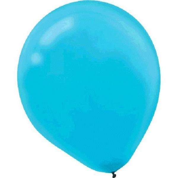 Solid Latex Balloons- Caribbean Blue 12""