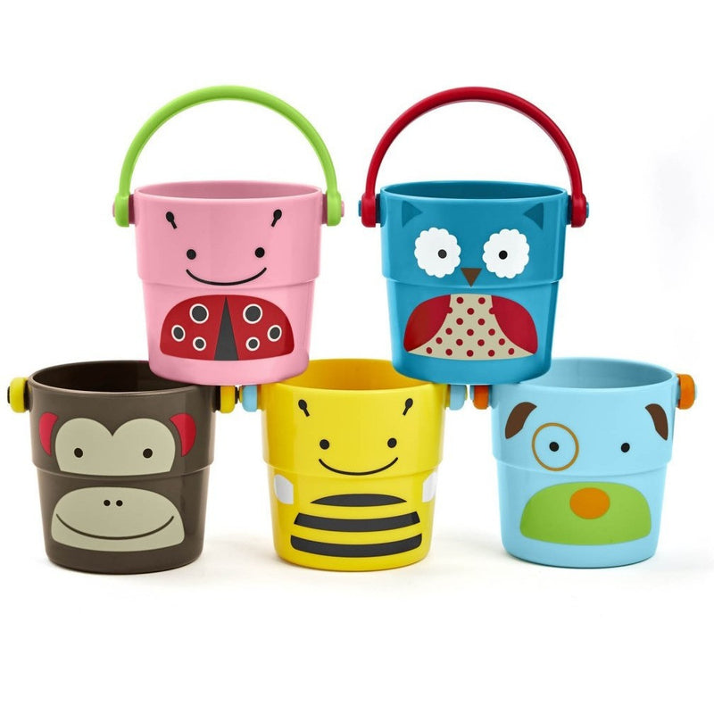 Skip Hop ZOO Stack & Pour buckets - Bath Toys - Anglo Dutch Pools and Toys
