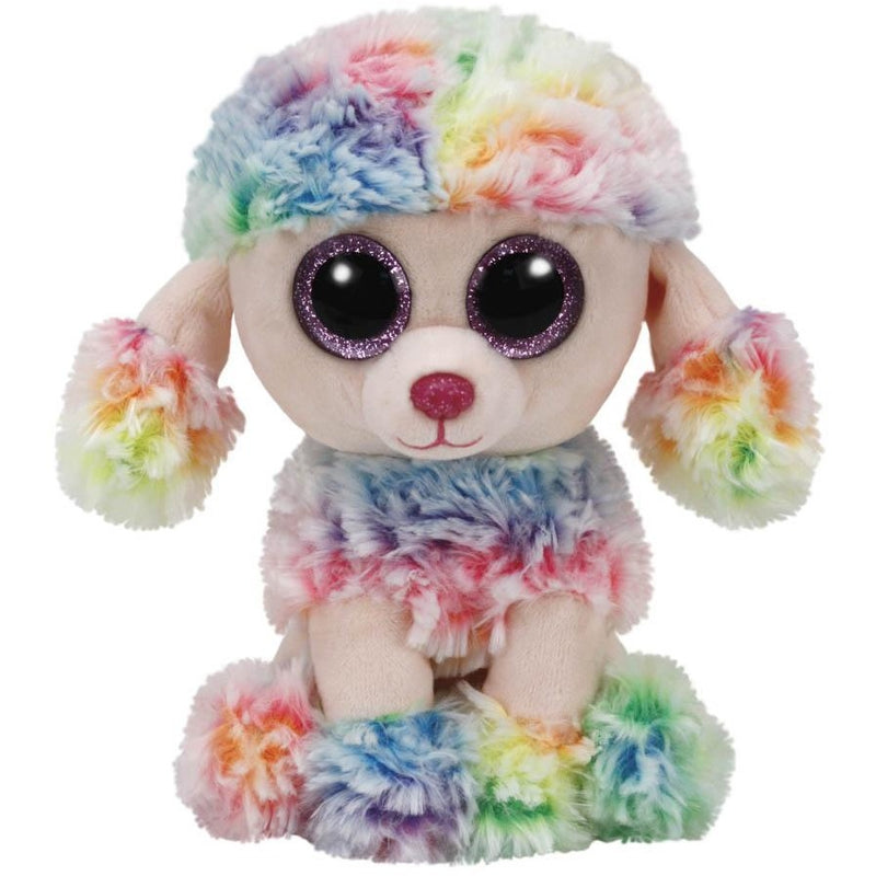 TY Beanie Boos Rainbow the Multi Color Poodle Small 6""