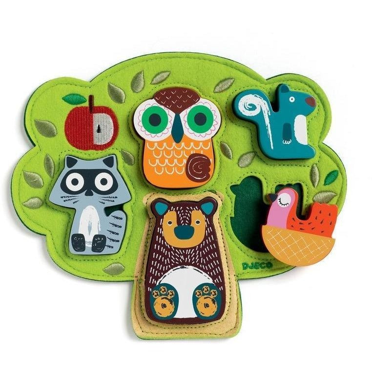Djeco Oski Wooden Puzzle - Beginner Puzzles - Anglo Dutch Pools and Toys
