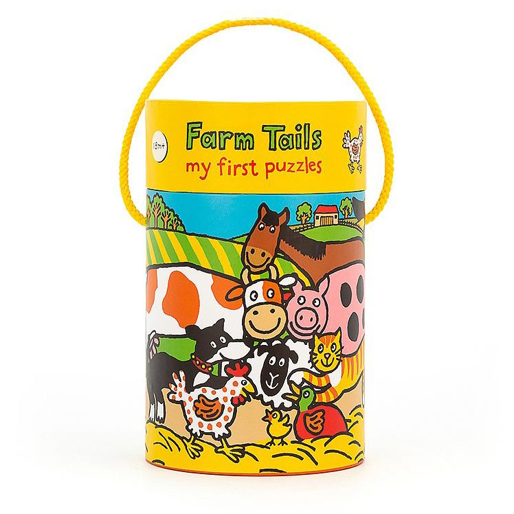 Beginner Puzzles - Jellycat Farm Tails Puzzle