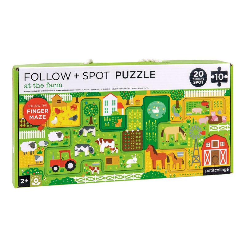 Beginner Puzzles - Petit Collage At The Farm Follow And Spot Puzzle
