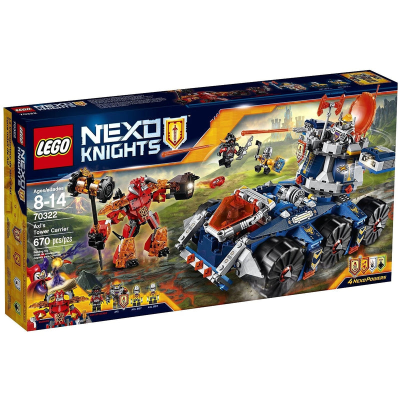 LEGO 70322 Nexo Knights Axl's Tower Carrier- - Anglo Dutch Pools & Toys  - 1