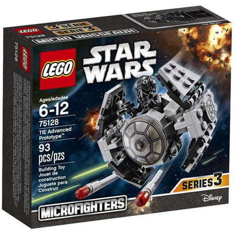 LEGO 75128 Star Wars TIE Advanced Prototype- - Anglo Dutch Pools & Toys  - 1