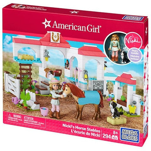 Mega Bloks American Girl Nicki's Horse Stables- - Anglo Dutch Pools & Toys  - 1