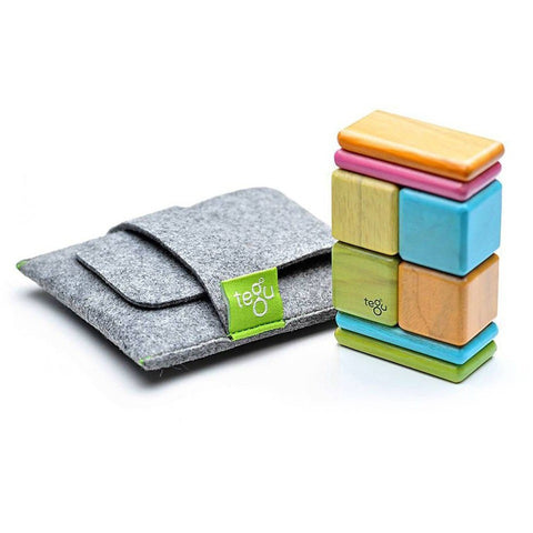 Tegu Pocket Pouch Magnetic Wooden Block Set- Tints - Magnetic Building Sets - Anglo Dutch Pools and Toys