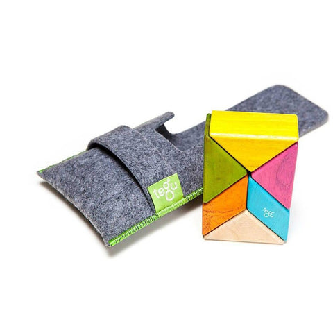 Tegu Pocket Pouch Prism Magnetic Wooden Block Set- Tints - Magnetic Building Sets - Anglo Dutch Pools and Toys