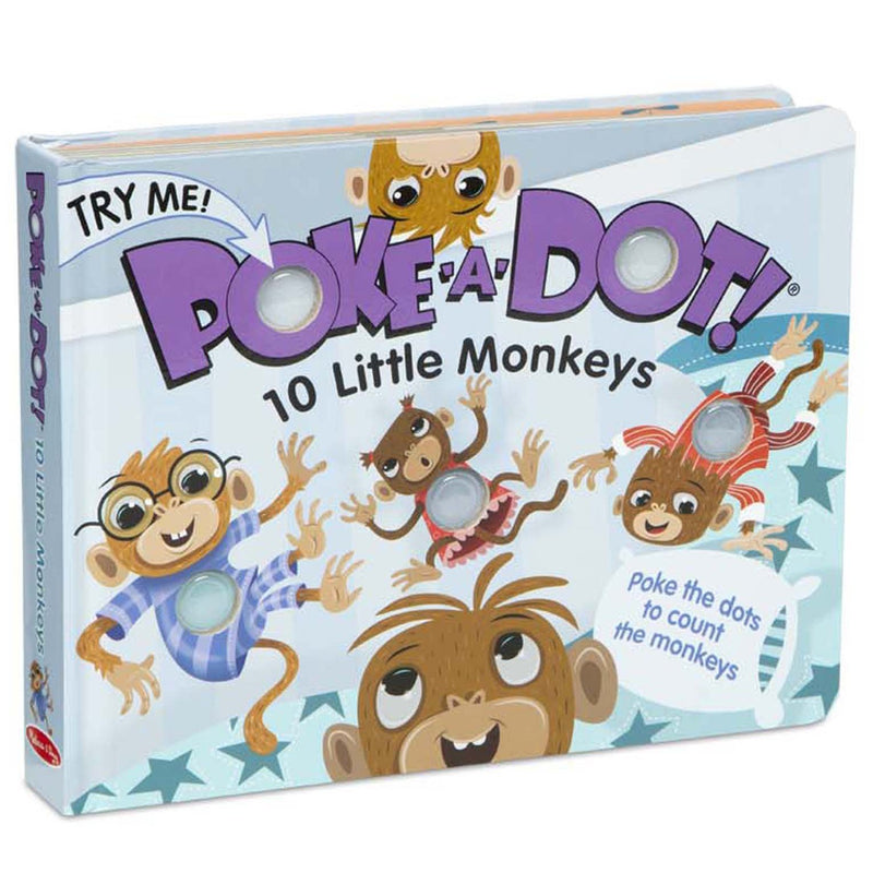 Board Books - Poke-A-Dot: 10 Little Monkeys