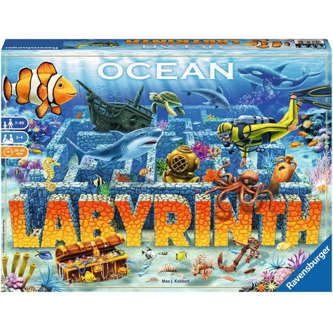 Board Games - Ravensburger Ocean Labyrinth Underwater Maze Board Game