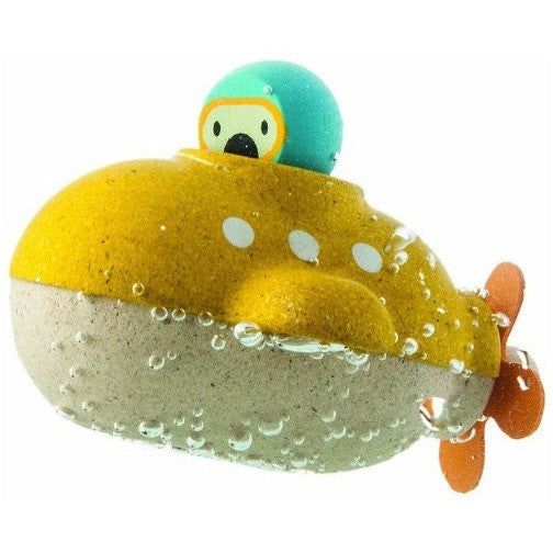 Plan Toys Submarine Bath Toy - Boats and Subs - Anglo Dutch Pools and Toys
