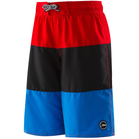 Speedo Boys Blocked Volley (4-20)- Atomic Red