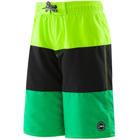 Speedo Boys Blocked Volley (4-20)- Sport Neon