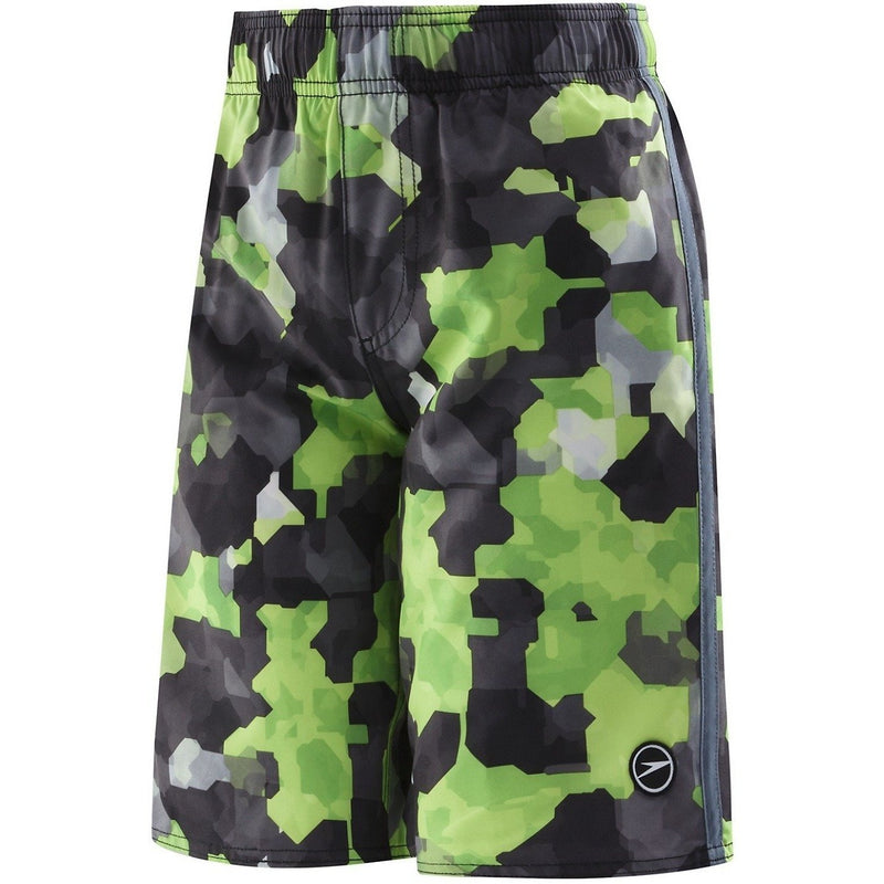 Speedo Boys Geo Camo Volley (8-16)- Green