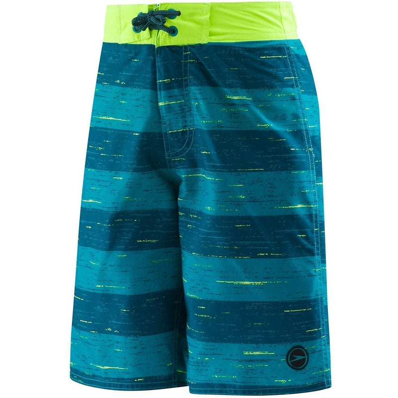 Speedo Boys Thru Way Stripe E-Board Shorts (8-16)- Marine Green