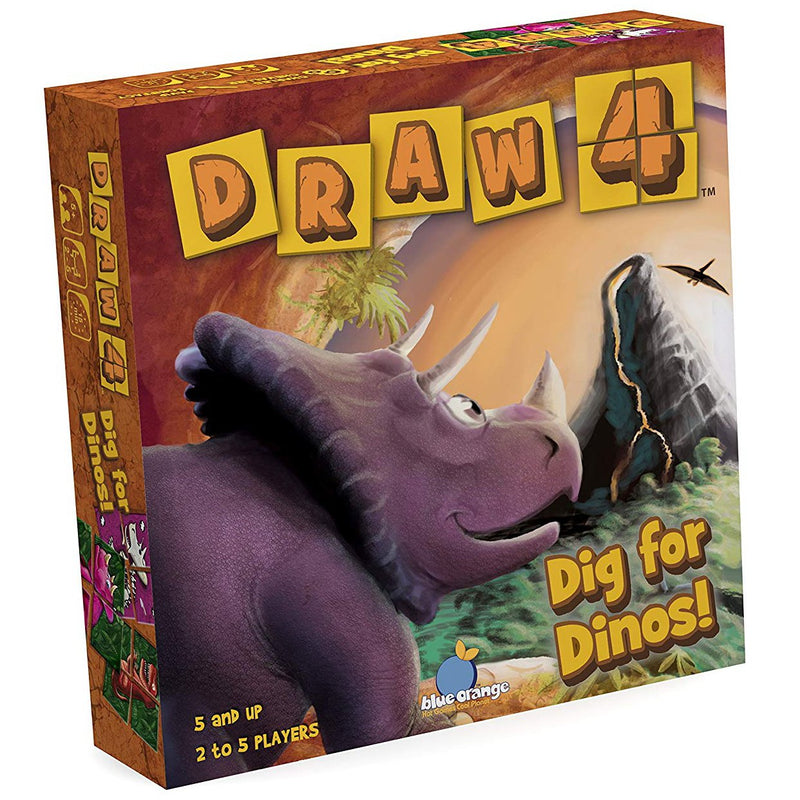 Brain Teasers And Strategy - Draw 4: Dig For Dinos Game