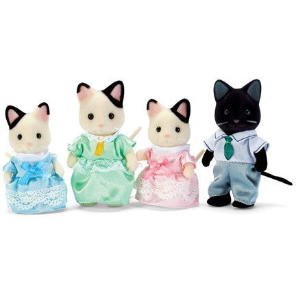 Calico Critters Tuxedo Cat Family- - Anglo Dutch Pools & Toys  - 1