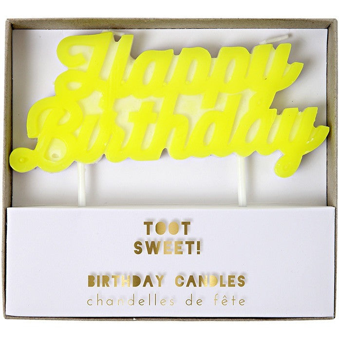 "Meri Meri Toot Sweet ""Happy Birthday"" Candle - Candles - Anglo Dutch Pools and Toys"