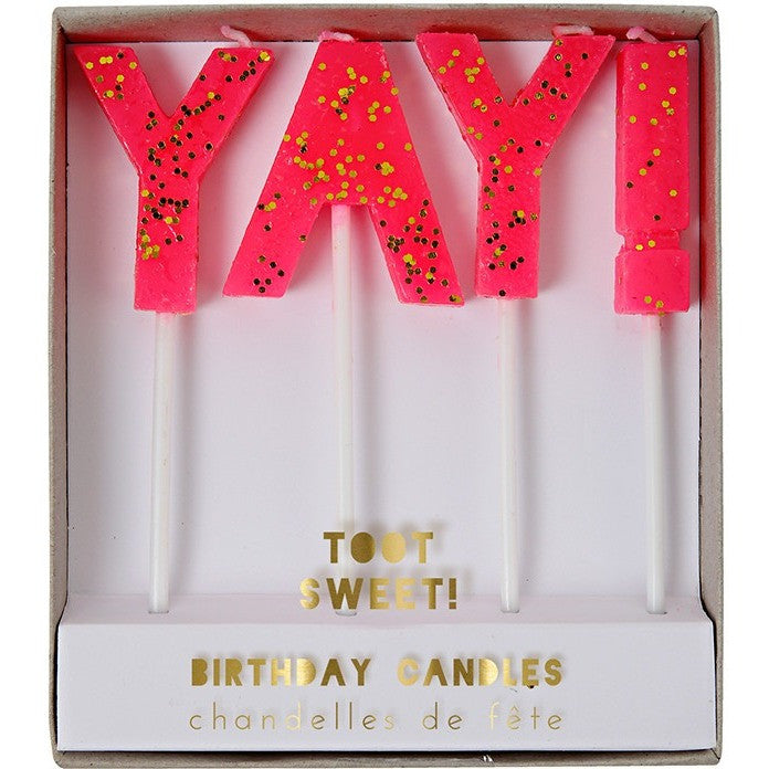"Meri Meri Toot Sweet ""Yay"" Candles - Candles - Anglo Dutch Pools and Toys"