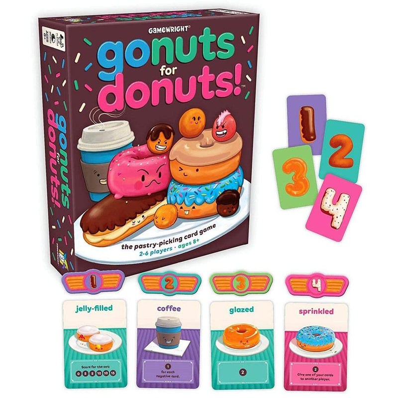 Card And Travel Games - Go Nuts For Donuts!