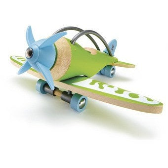 Hape Bamboo E-Plane- - Anglo Dutch Pools & Toys  - 1