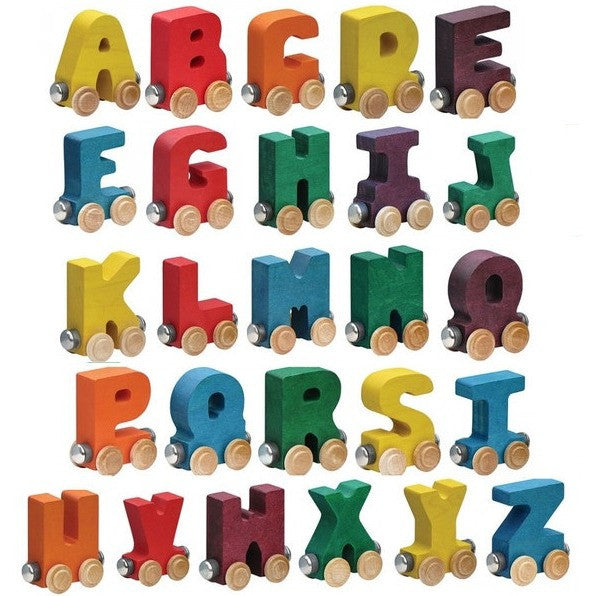 Maple Landmark Bright Wooden Letters Name Trains- - Anglo Dutch Pools & Toys  - 1