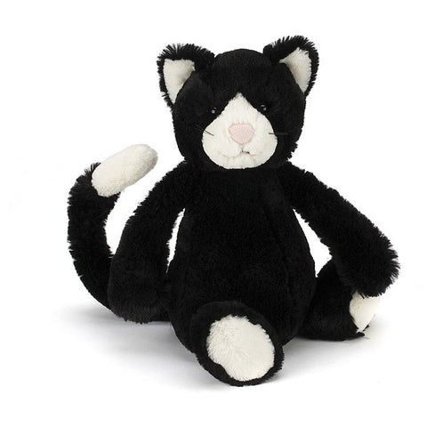 "Jellycat Bashful Black and White Kitten Medium 12""- - Anglo Dutch Pools & Toys"