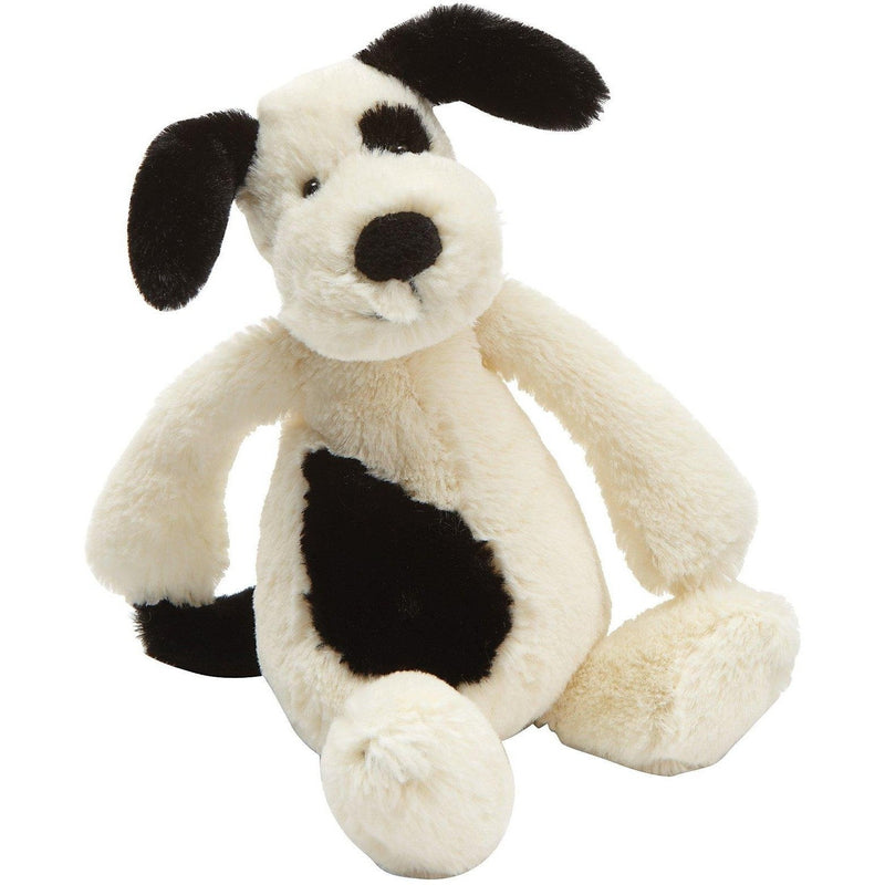Jellycat Bashful Black & Cream Puppy - Cats and Dogs - Anglo Dutch Pools and Toys
