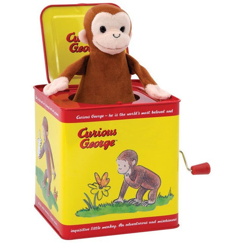 Schylling Curious George Jack In The Box- - Anglo Dutch Pools & Toys