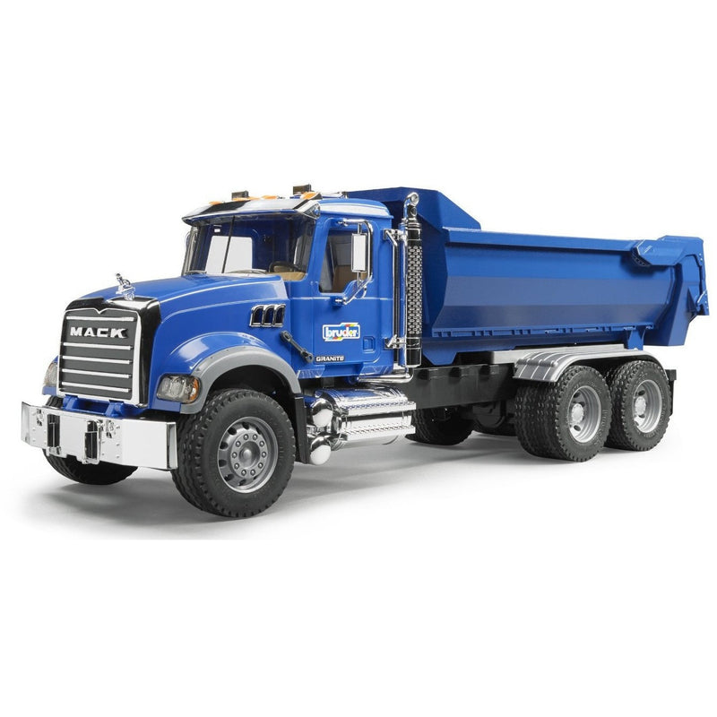 Bruder Mack Granite Halfpipe Dump Truck- - Anglo Dutch Pools & Toys  - 1
