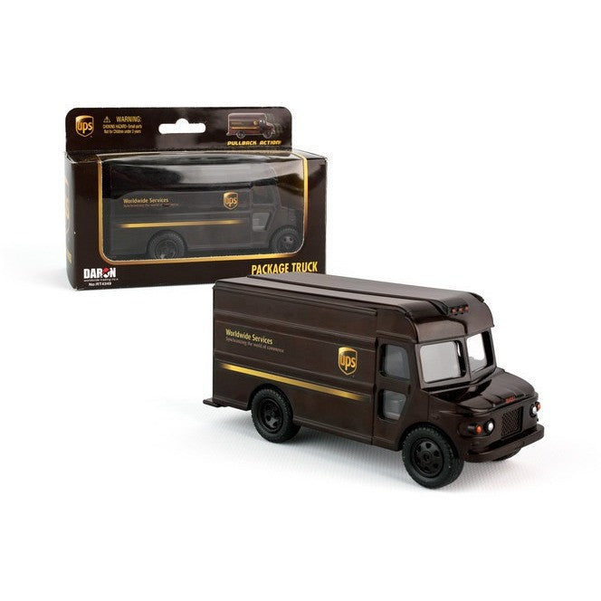 Daron UPS Pullback Package Car - Commercial and Farm Vehicles - Anglo Dutch Pools and Toys