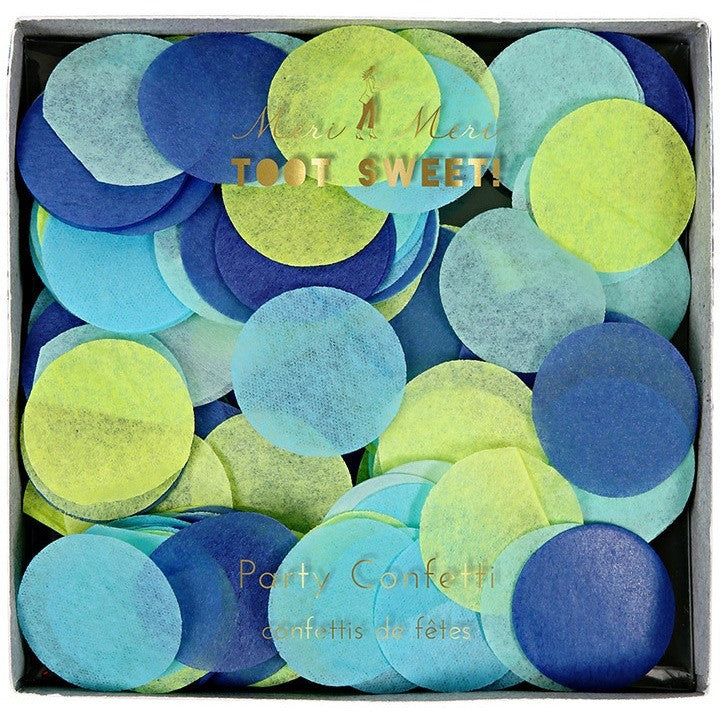 Meri Meri Toot Sweet Blue Party Confetti- - Anglo Dutch Pools & Toys