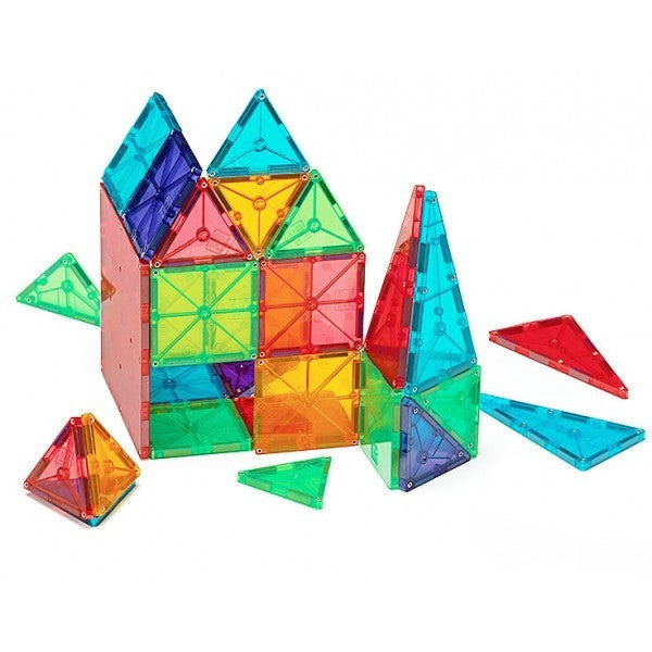Magna-Tiles® Clear Colors 100 Piece Set - Magnetic Building Sets - Anglo Dutch Pools and Toys