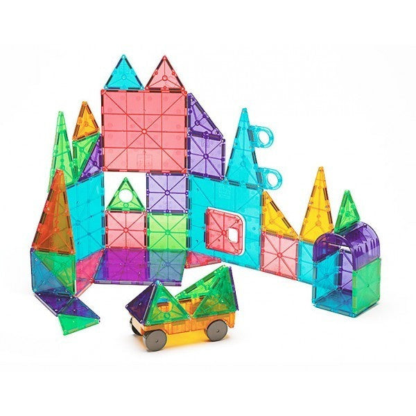 Magna-Tiles® Clear Colors 48 Piece DX Set - Magnetic Building Sets - Anglo Dutch Pools and Toys