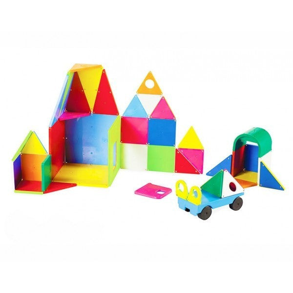 Magna-Tiles® Solid Colors 48 Piece DX Set - Magnetic Building Sets - Anglo Dutch Pools and Toys