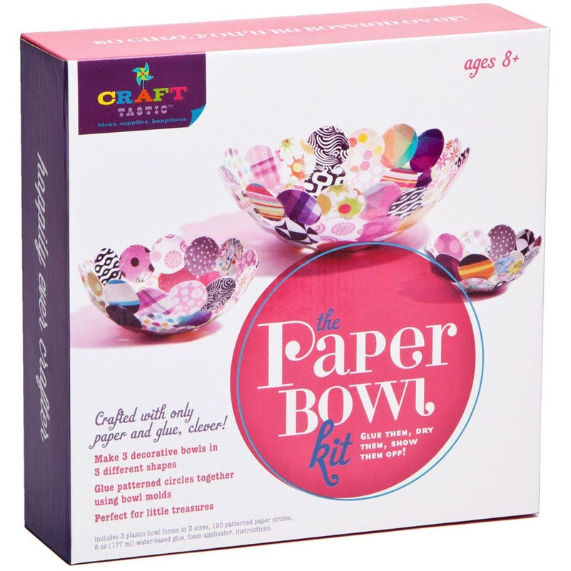 Craft-tastic Paper Bowl Kit- - Anglo Dutch Pools & Toys  - 1