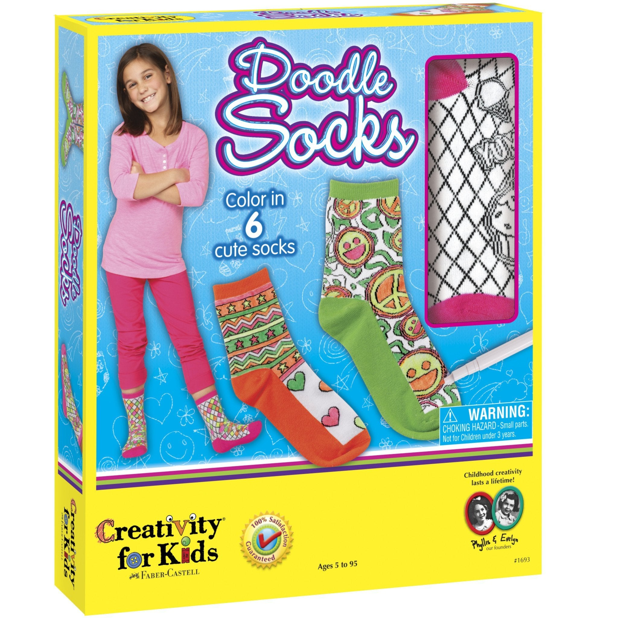 Creativity For Kids Doodle Socks Craft Kits