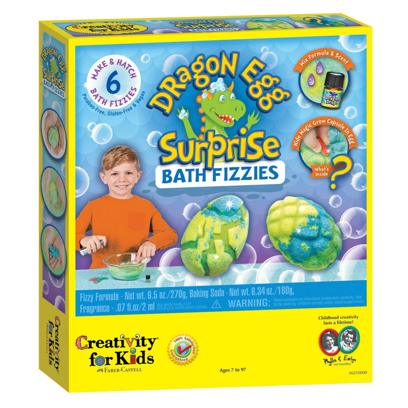 Craft Kits - Creativity For Kids Dragon Egg Surprise Bath Fizzies