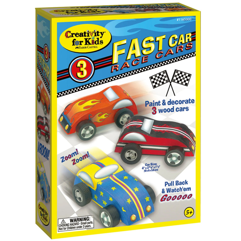 Creativity For Kids Fast Car Race Cars - Craft Kits - Anglo Dutch Pools and Toys